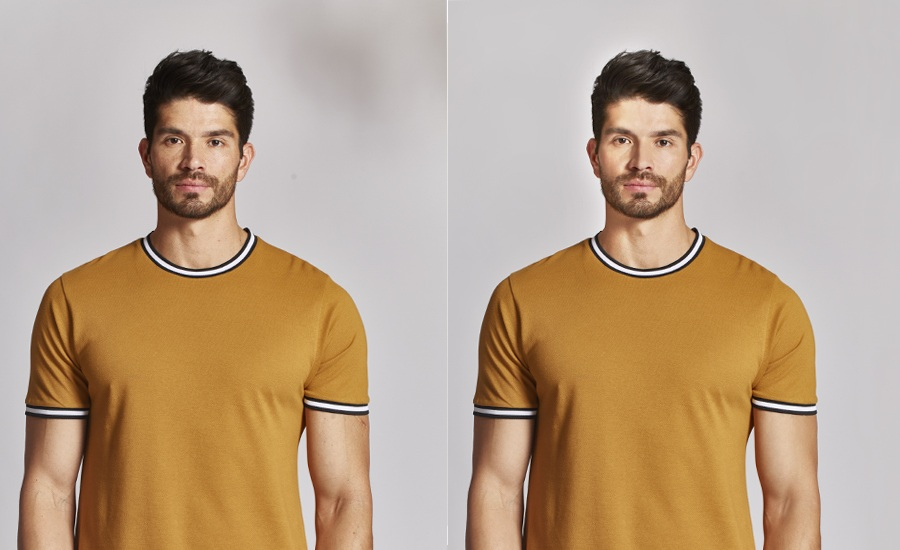 Retouching of model image to make him look better and attractive